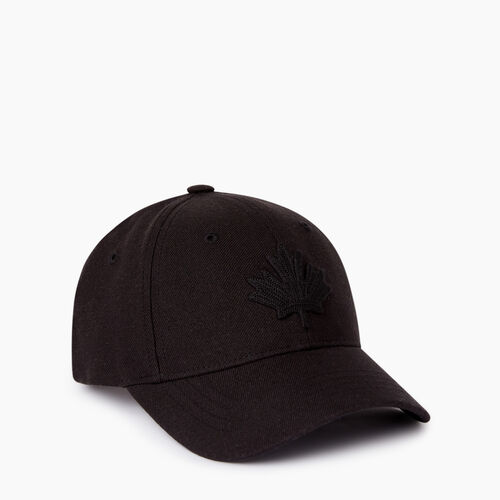 Roots-Kids Our Favourite New Arrivals-Kids Leaf Baseball Cap-Black-A