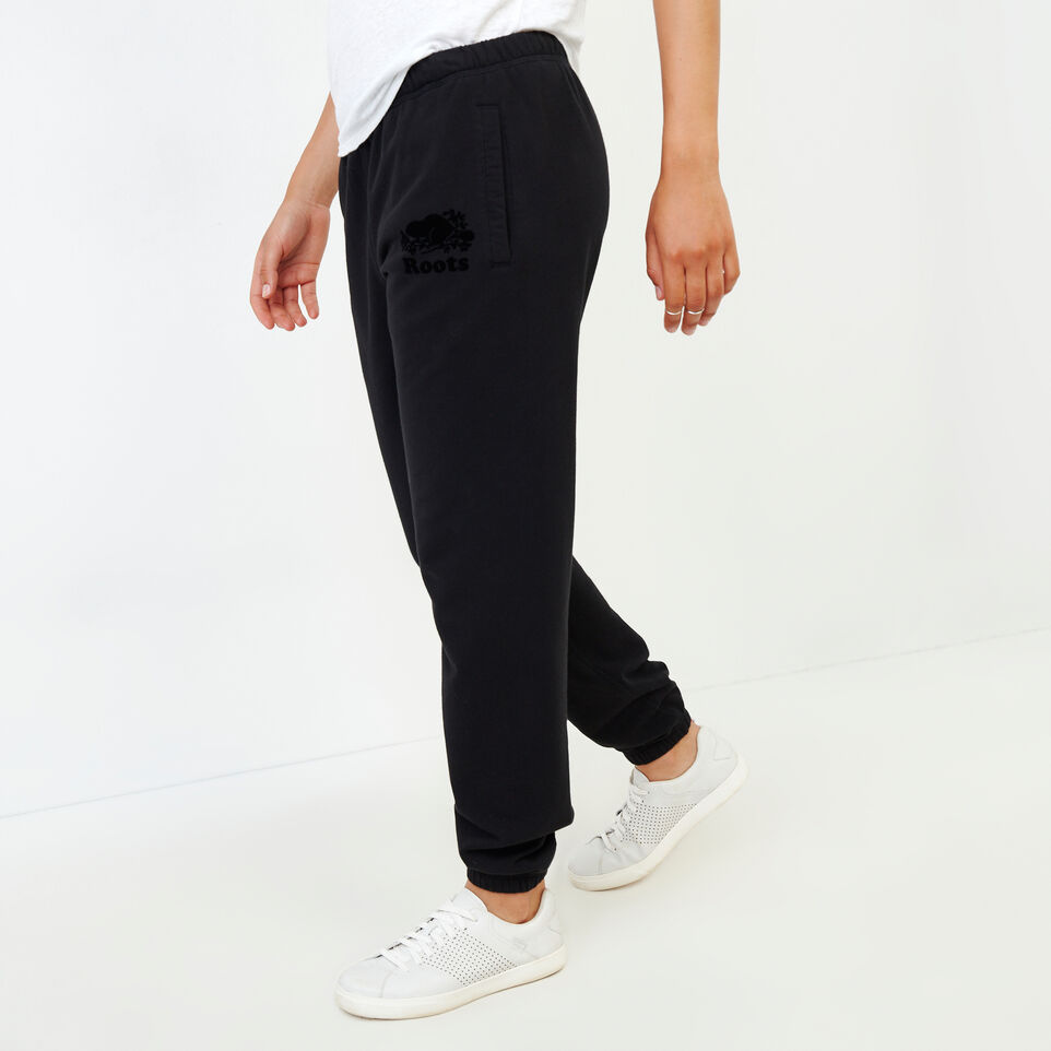 Roots-Women Our Favourite New Arrivals-Original Cozy Sweatpant-Black-C