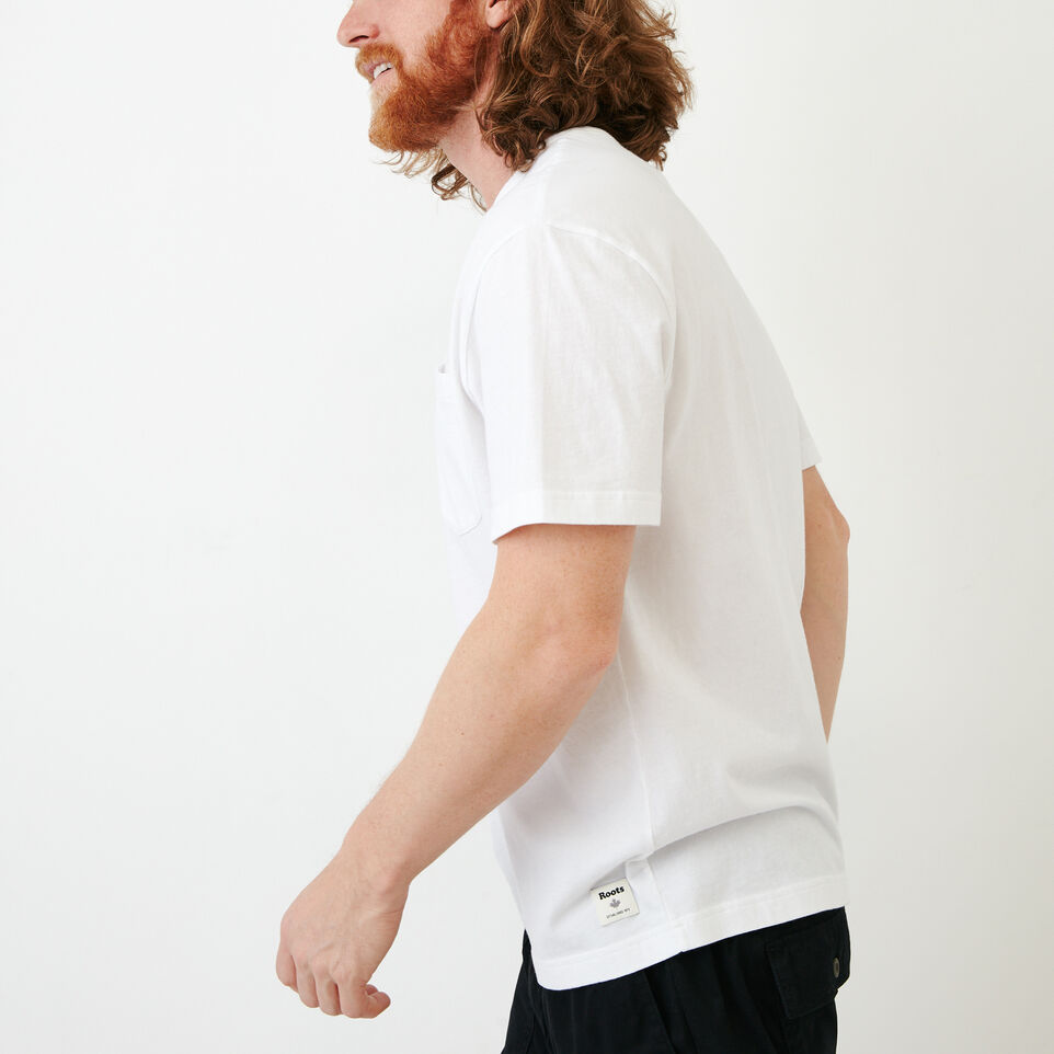 Roots-Men Our Favourite New Arrivals-Essential Pocket T-shirt-White-C