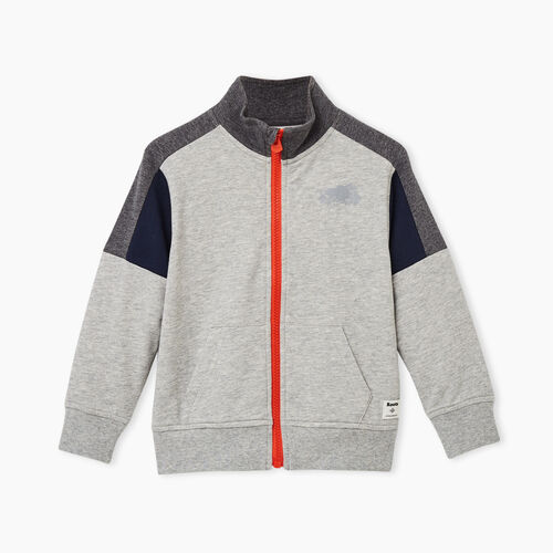 Roots-Sweats Toddler Boys-Toddler Active Track Jacket-Grey Mix-A