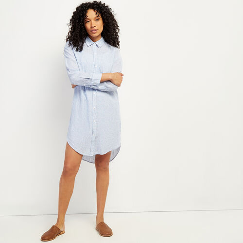 Roots-Women Dresses & Jumpsuits-Lachine Shirt Dress-Provence Blue-A