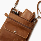 Roots-Leather Canada Collection By Roots™-Trans Canada Urban Pouch-Natural-D
