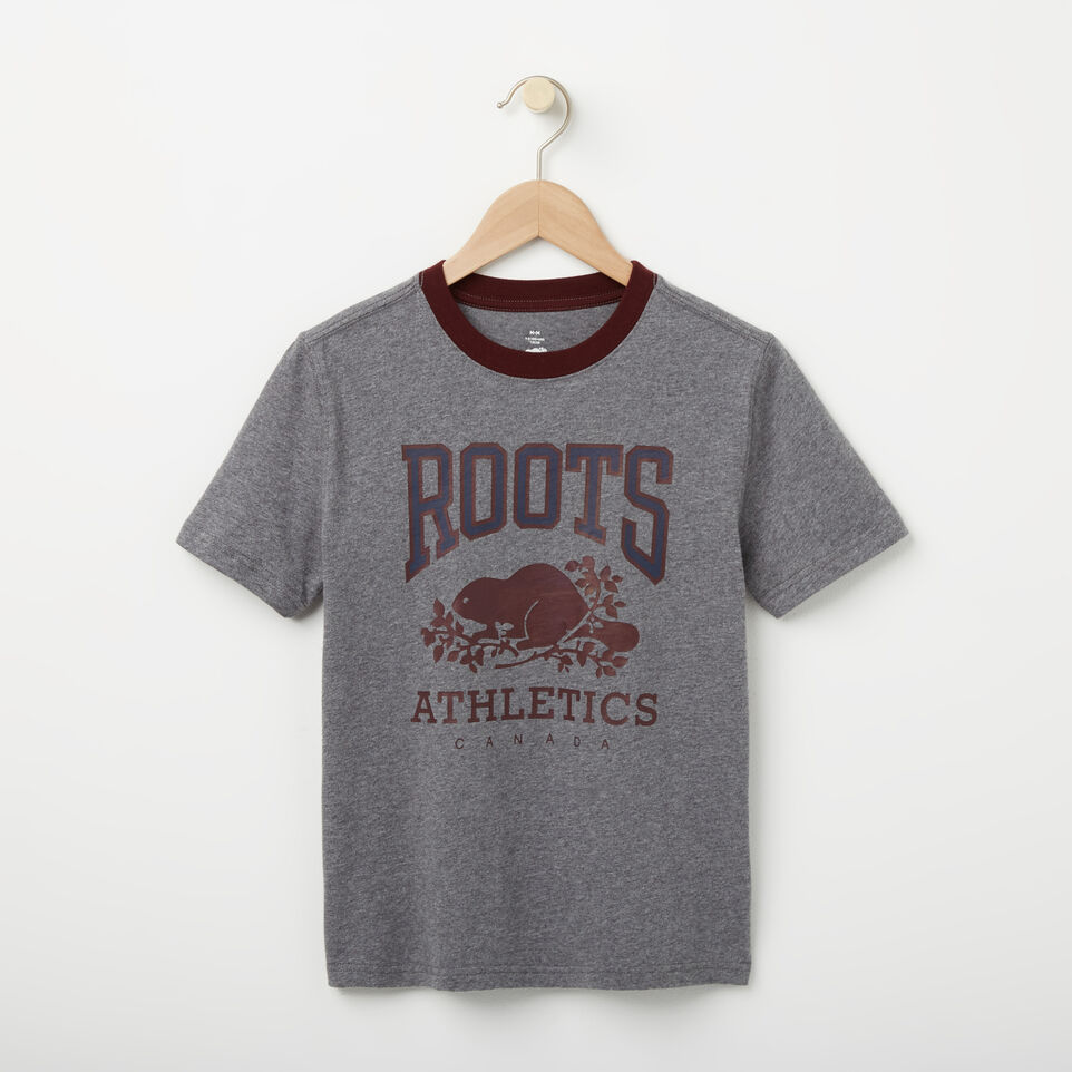 Roots-undefined-Garçons T-shirt Collier Contraste RBA-undefined-A