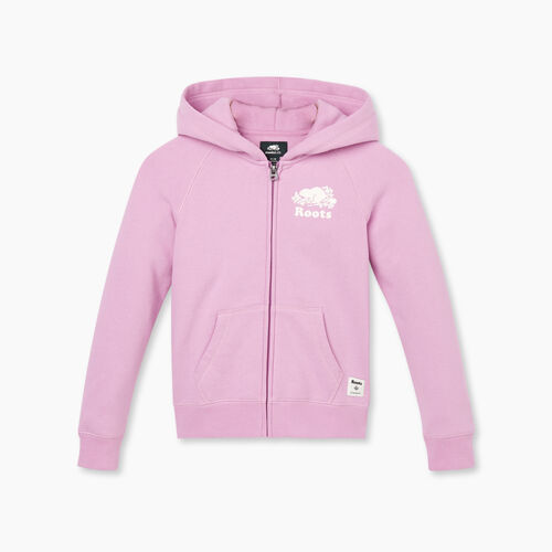 Roots-Kids New Arrivals-Girls Original Full Zip Hoody-Orchid-A
