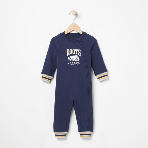 Roots-Kids Rompers & Onesies-Baby RBC Romper-Cascade Blue-A