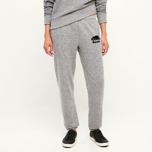 Roots-Women Bottoms-Original Cozy Sweatpant-Salt & Pepper-A