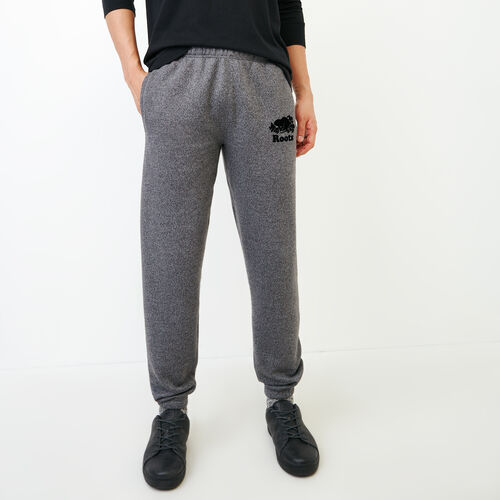Roots-Men Bottoms-Original Slim Sweatpant-Charcoal Pepper-A