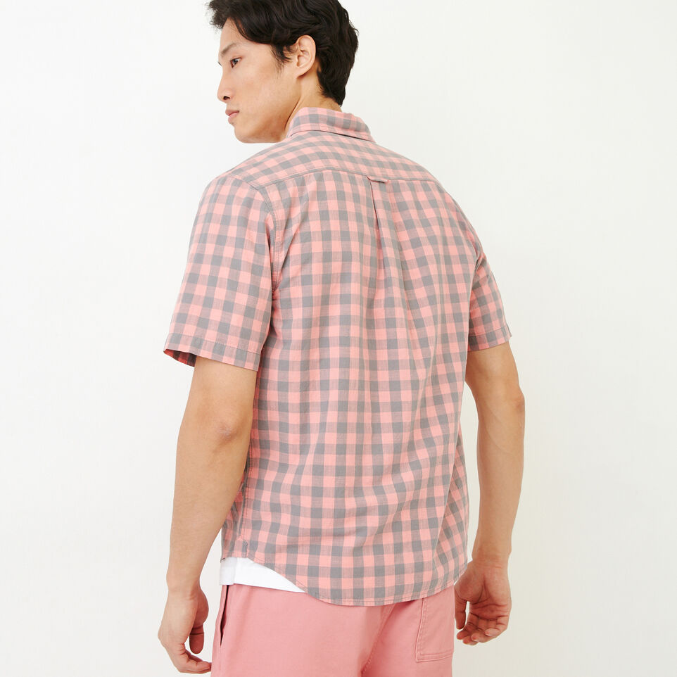 Roots-Men Our Favourite New Arrivals-White Pine Short Sleeve Shirt-Sunset Apricot-D