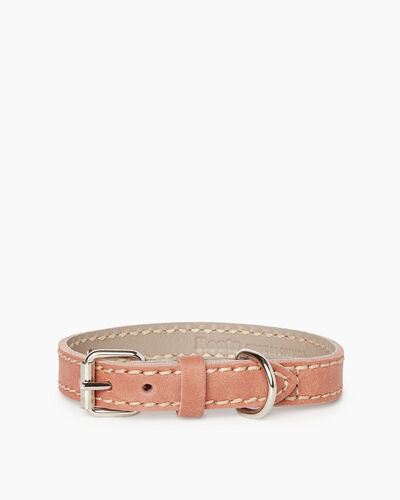 Roots-New For March Dog Accessories-Small Leather Dog Collar-Canyon Rose-A
