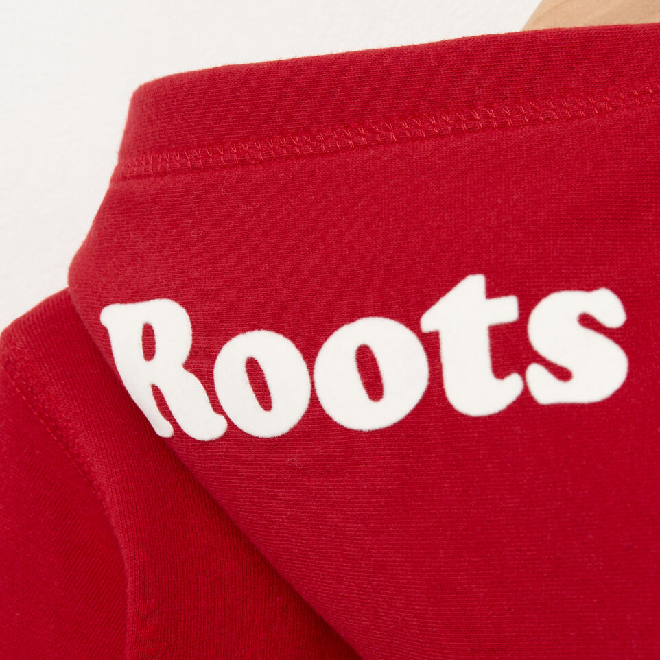 Roots-Kids Tops-Toddler Canada Full Zip Hoody-Sage Red-D