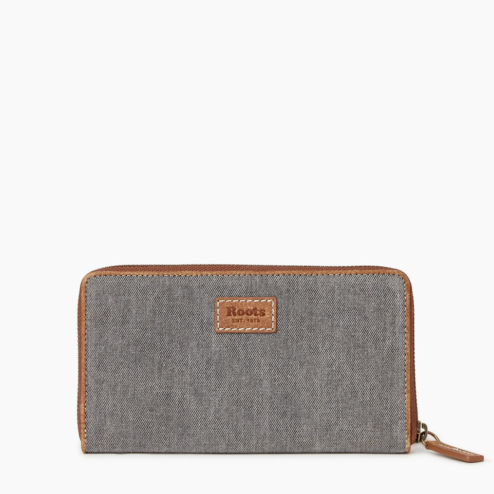 Roots-Women Our Favourite New Arrivals-Cabin Wallet-Grey Oat Mix-B