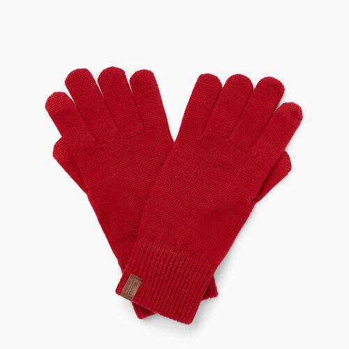 Roots-Clearance Women-Dorval Texting Glove-Cabin Red-A