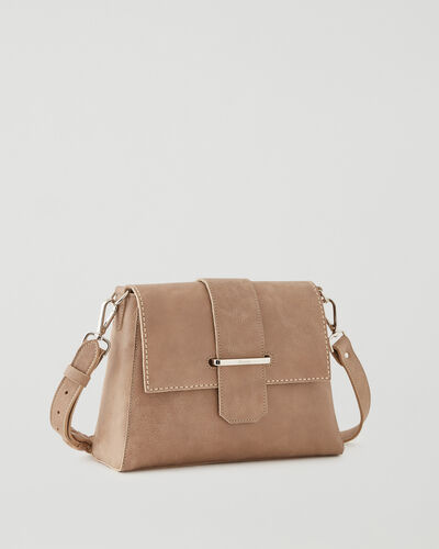 Roots-Leather Leather Bags-Phoebe Bag Tribe-Sand-A