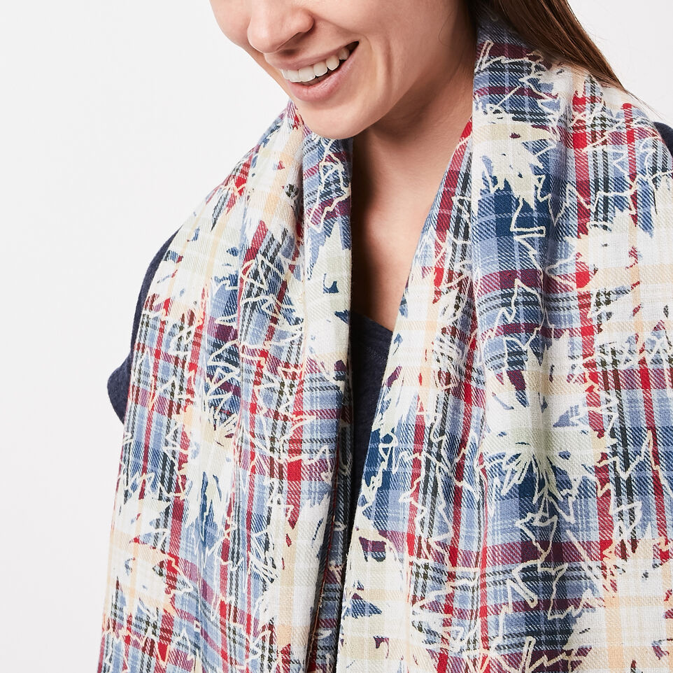 Roots-undefined-Maple Plaid Scarf-undefined-C