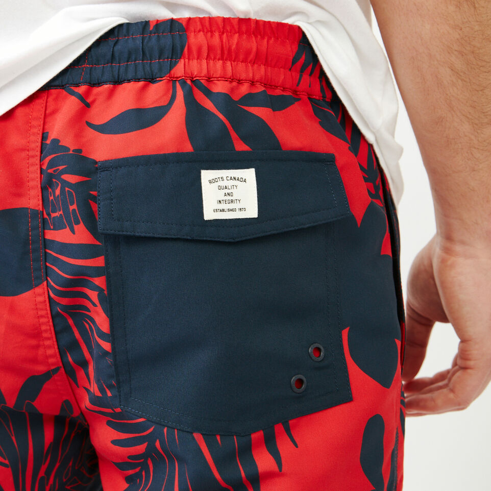 Roots-Men Our Favourite New Arrivals-Dock Aop Short-Racing Red-E