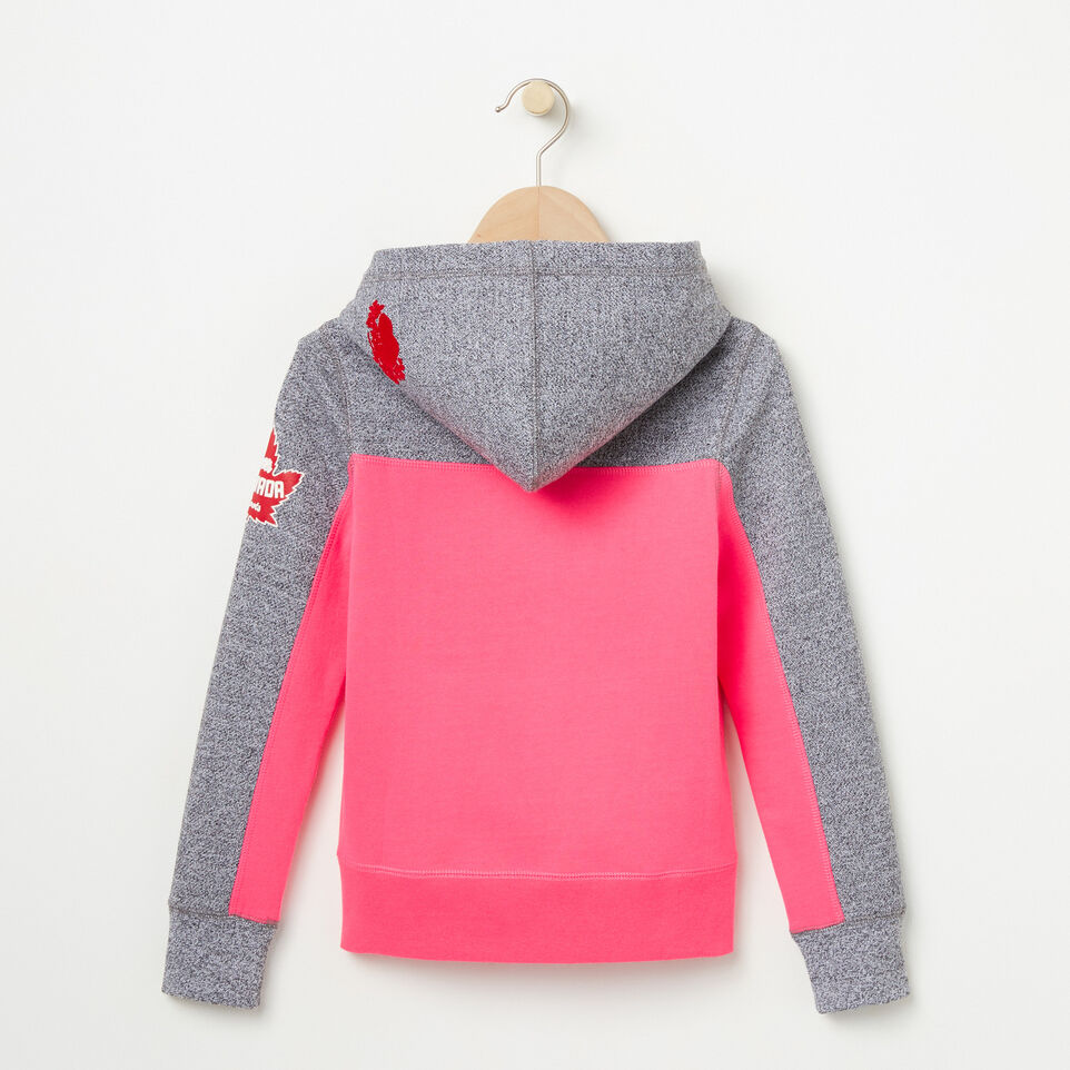 Roots-undefined-Girls Heritage Script Kanga Hoody-undefined-B