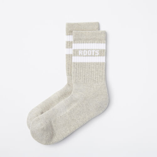 Roots-Women Socks-Womens Retro Crew Sock-Grey Mix-A