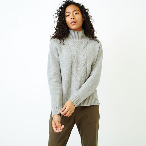 Roots-Women Sweaters & Cardigans-Nita Cable Sweater-Snowy Ice Mix-A