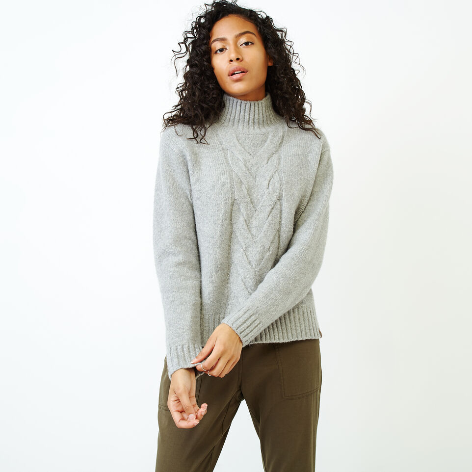Roots-Women Our Favourite New Arrivals-Nita Cable Sweater-Snowy Ice Mix-A