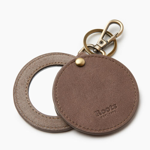 Roots-Women Categories-Mirror Key Ring-Fawn-A