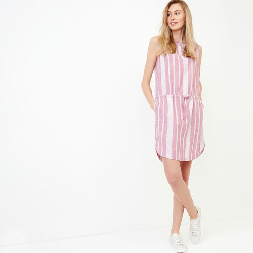Roots-Women Categories-Hazelton Dress-Raspberry Rose-A