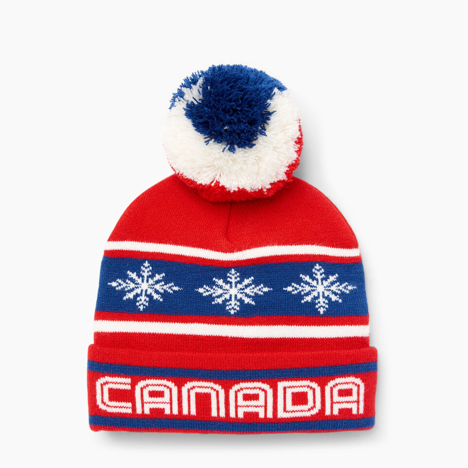 Roots-Kids Our Favourite New Arrivals-Kids Retro Fair Isle Toque-Racing Red-C