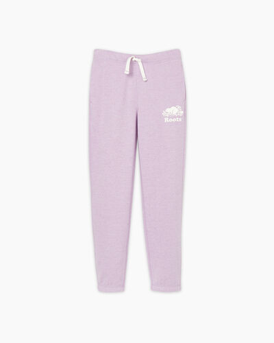 Roots-Sweats Girls-Girls Original Roots Sweatpant-Lupine Pepper-A