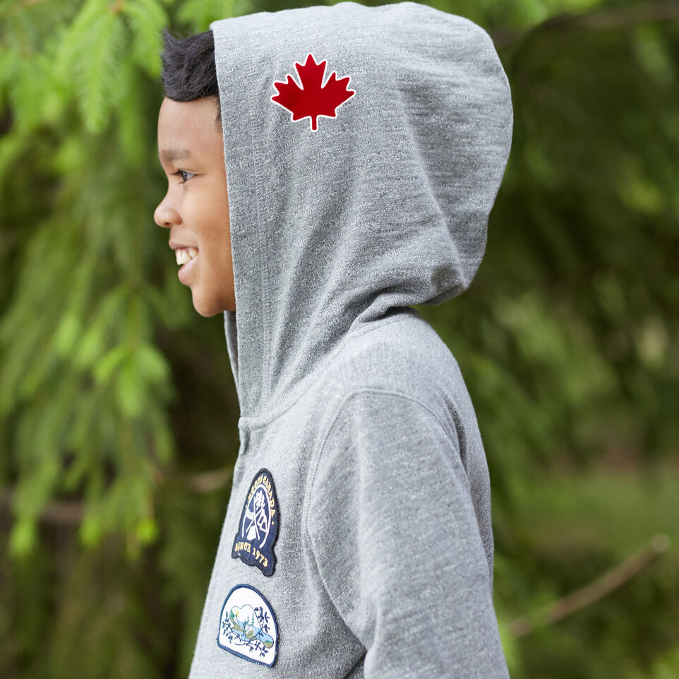 Roots-undefined-Boys Camp Patch Full Zip Hoody-undefined-D