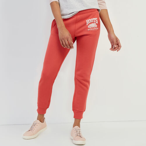 Roots-Women Sweatpants-RBA Slim Sweatpant-Cranberry-A