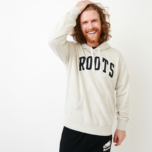 Roots-New For March Sweats-Arch Kanga Hoody-Moonbeam Pepper-A