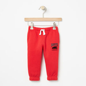 Roots-Kids Baby Boy-Baby Sideline Slim Sweatpant-Racing Red-A