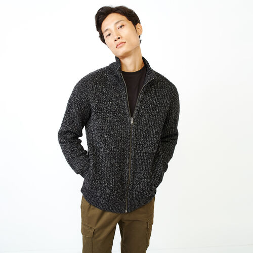 Roots-Men Our Favourite New Arrivals-Snowy Fox Zip Mock Jacket-Black Fox-A