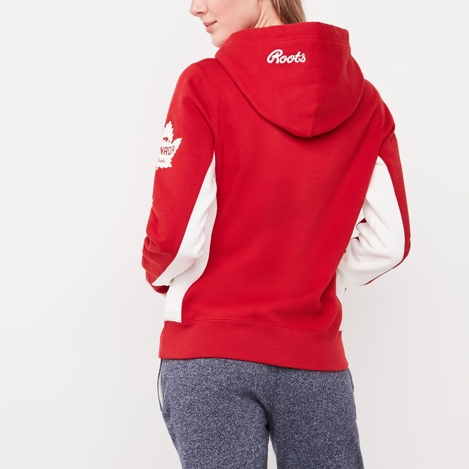 Roots-undefined-Womens Heritage Script Kanga Hoody-undefined-D