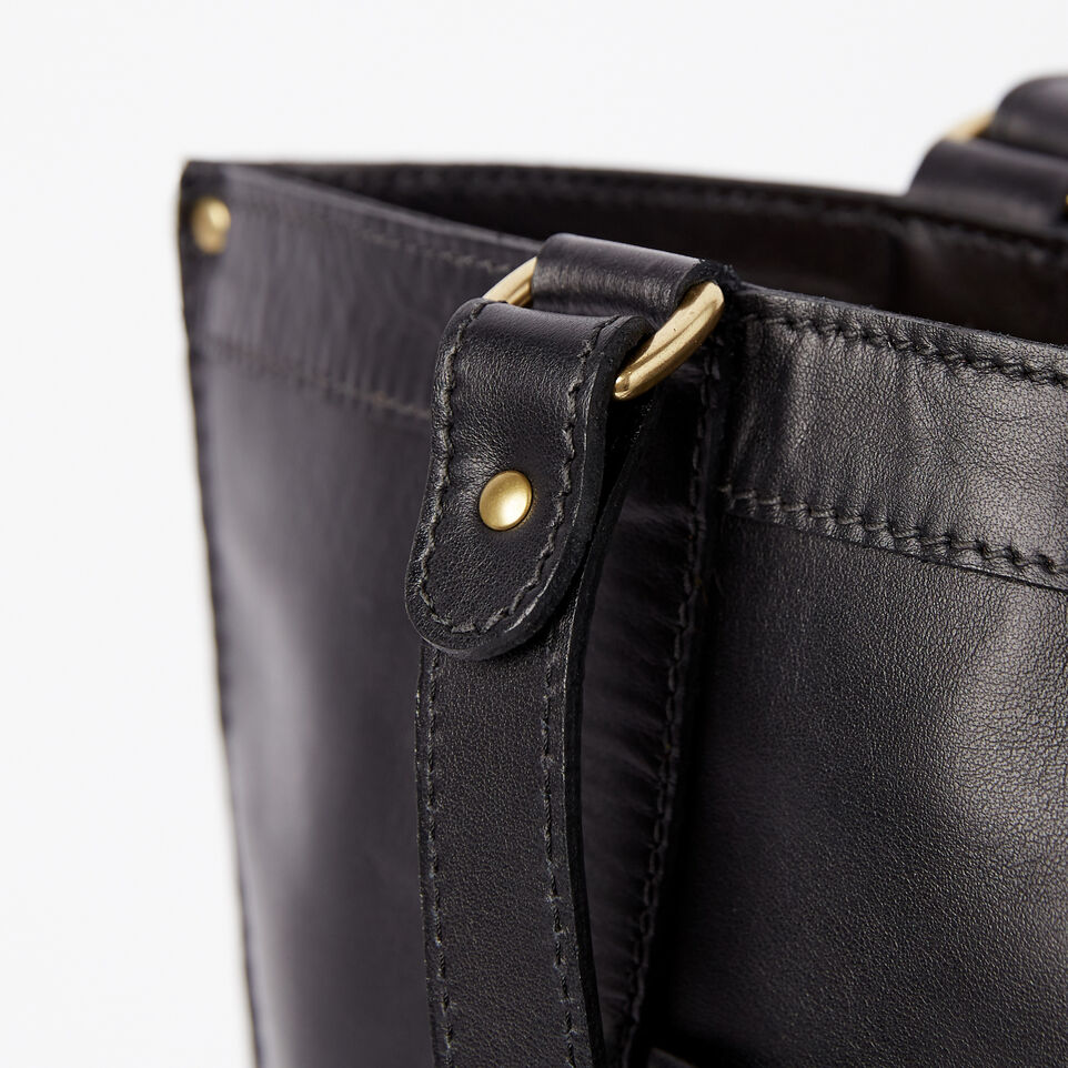 Roots-Winter Sale Leather-Market Tote Heritage-Black-D