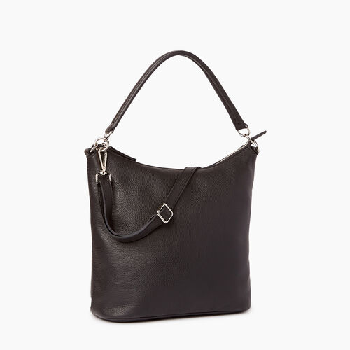 Roots-Leather Shoulder Bags-Ella Bag-Black-A