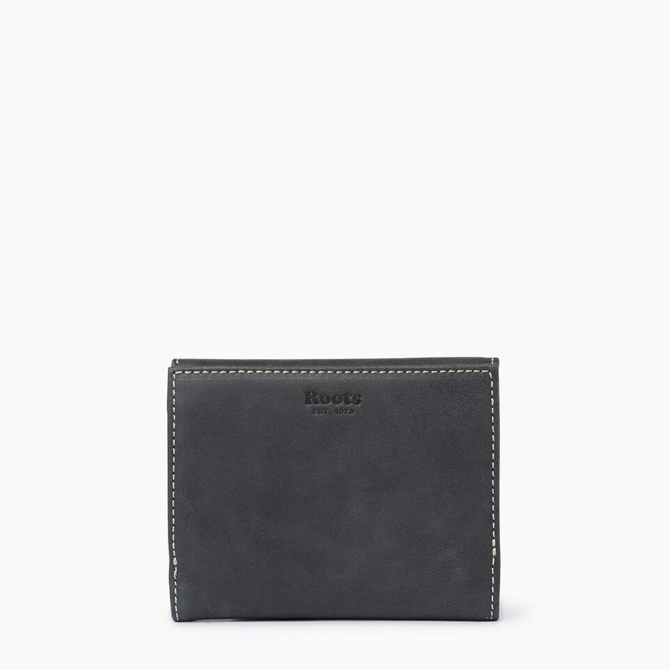 Roots-Leather  Handcrafted By Us Our Favourite New Arrivals-Riverdale Wallet-Jet Black-B