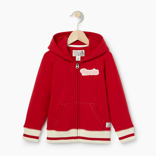 Roots-Kids Tops-Toddler Cabin Full Zip Hoody-Cabin Red-A