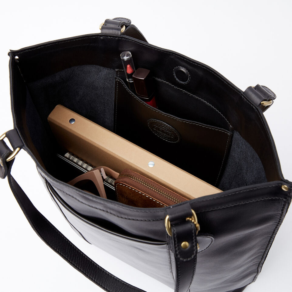 Roots-Winter Sale Leather-Market Tote Heritage-Black-E
