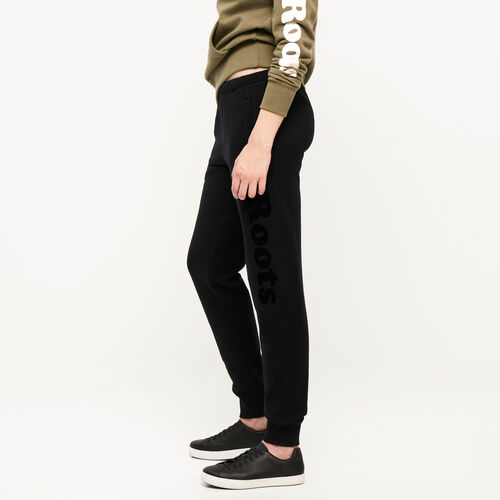 Roots-New For August Women-Remix Sweatpant-Black-A