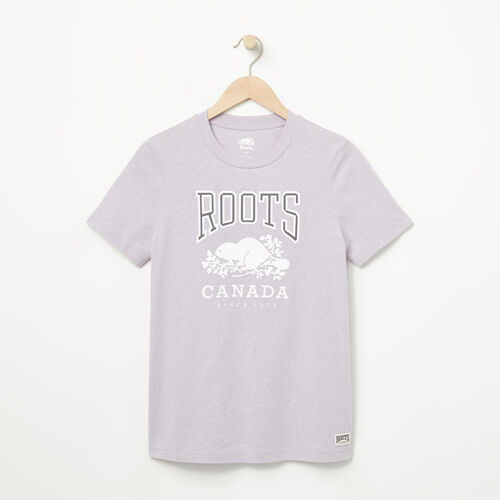 Roots-Women Graphic T-shirts-Womens Classic RC T-shirt-Thistle Mix-A