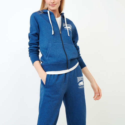 Roots-Women Our Favourite New Arrivals-Classic Full Zip Hoody-Olympus Blue Mix-A