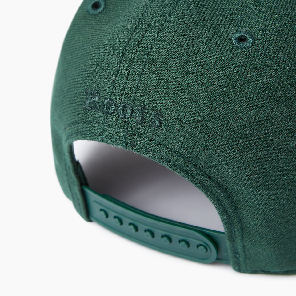 Roots-Men Our Favourite New Arrivals-Modern Leaf Baseball Cap-Park Green-E