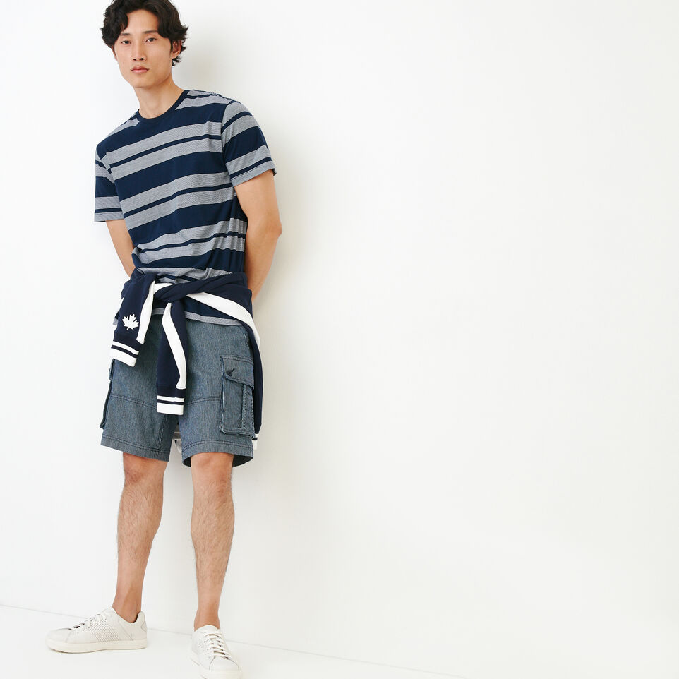 Roots-Men Our Favourite New Arrivals-Mercer Striped T-shirt-Navy Blazer-B