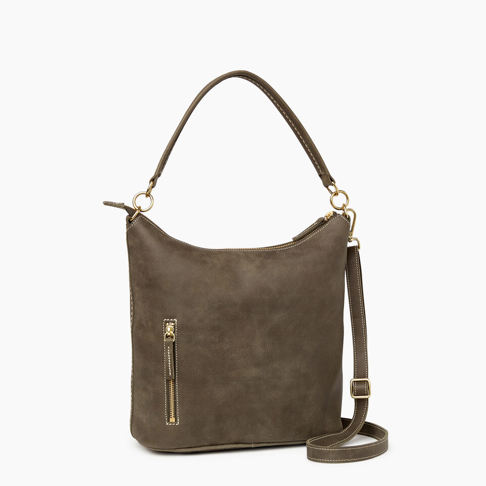 Roots-Leather  Handcrafted By Us Our Favourite New Arrivals-Ella Bag-Pine-C