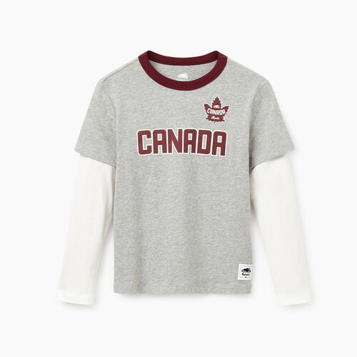 Roots-Kids Our Favourite New Arrivals-Boys Canada T-shirt-Grey Mix-A