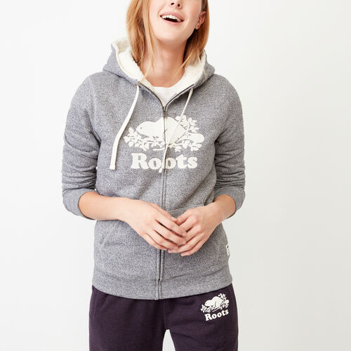 Roots-Women Our Favourite New Arrivals-Sherpa-lined Hoody-Salt & Pepper-A