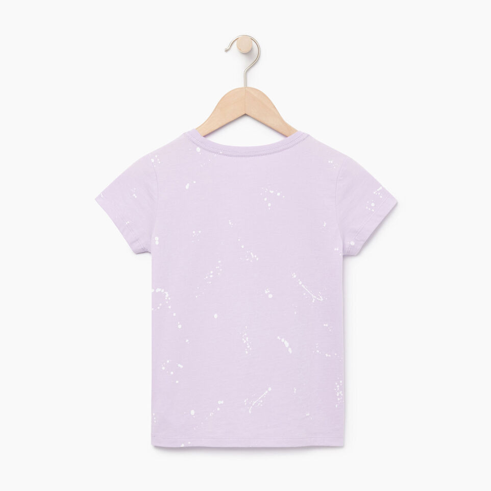 Roots-Kids Our Favourite New Arrivals-Girls Splatter Aop T-shirt-Lavendula-B