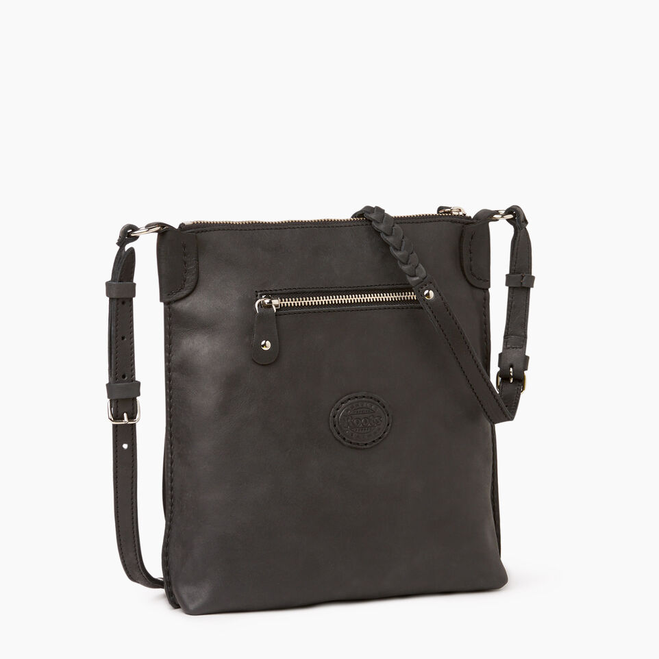 Roots-Leather  Handcrafted By Us Our Favourite New Arrivals-The Hippy Bag-Jet Black-C