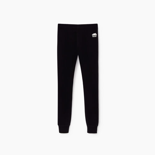 Roots-Kids Sweats-Girls Cozy Fleece Legging-Black-A