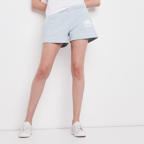 Roots-Women Shorts & Skirts-Bandana Sweatshort-Chambray Blue-A